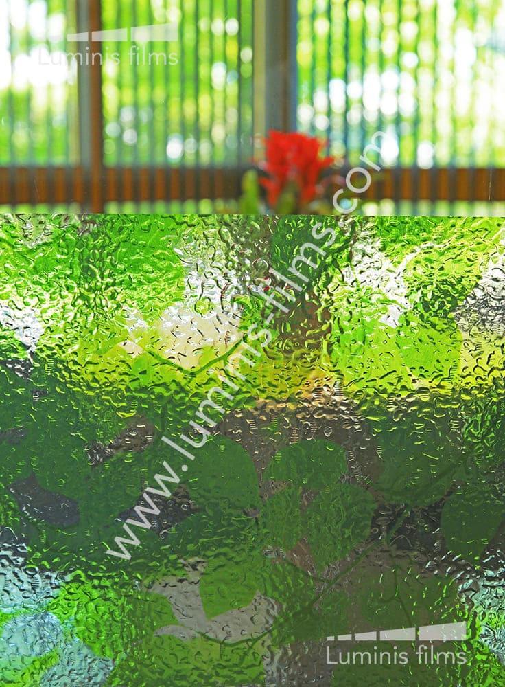 Film statique motifs feuilles vertes Verdure. Luminis-Films