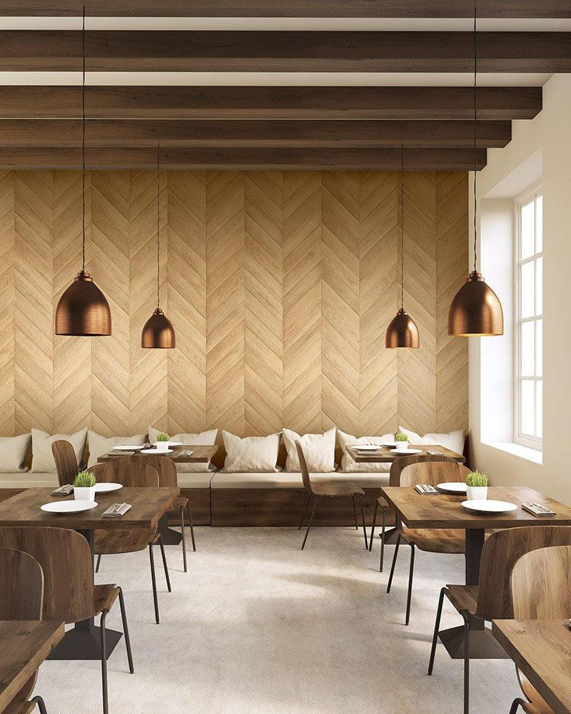 Papier Peint Effet Miroir papier peint bois effet parquet en chevron - bois1-2044