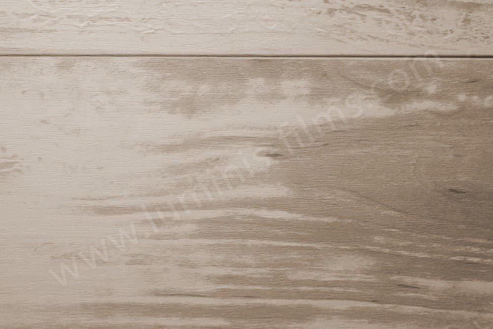 Revêtement décoratif effet planches de bois blanchies. Luminis-Films