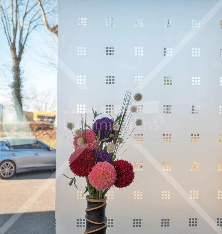 Film décoratif dépoli à petits carreaux - INT 460. Luminis-Films