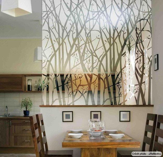 Film décoratif à arbres dépolis - INT 530. Luminis-Films