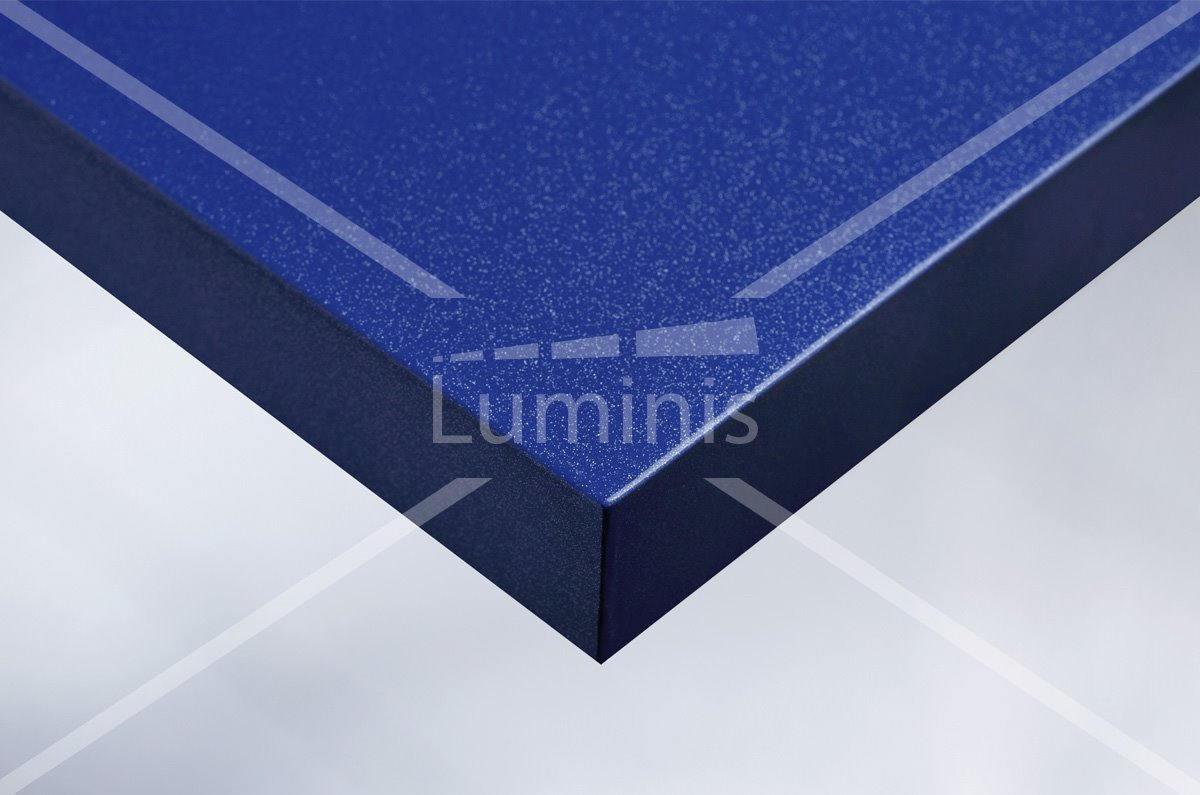 Revêtement glossy bleu à fines paillettes argentées. Luminis-Films