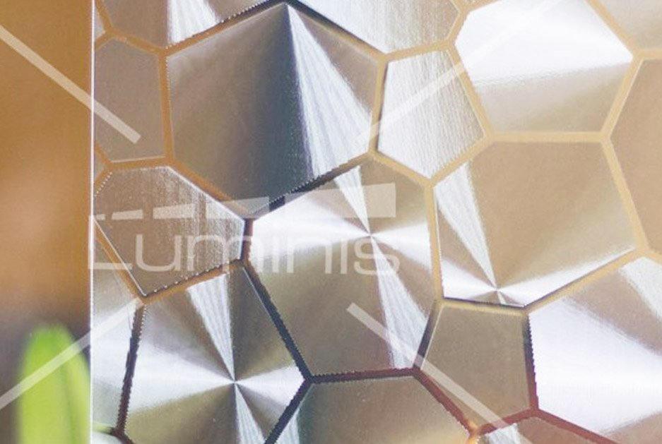 Film repositionnable à motifs diamants. Luminis-Films