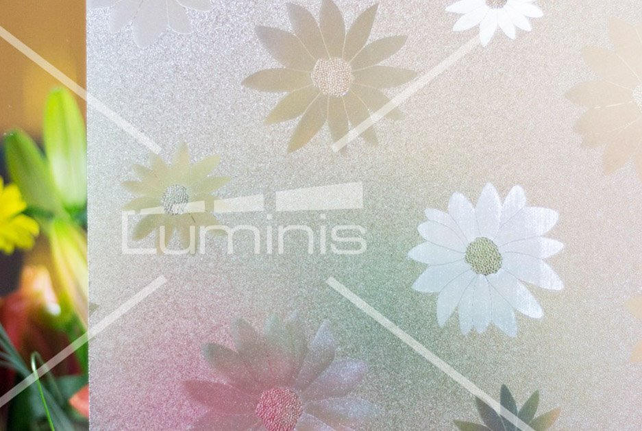 Film repositionnable - Marguerites L035. Luminis-Films
