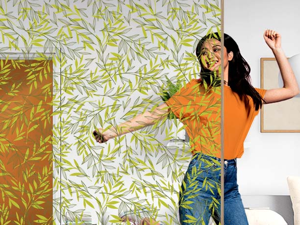 Film décoratif personnalisable motif provence. Luminis Films