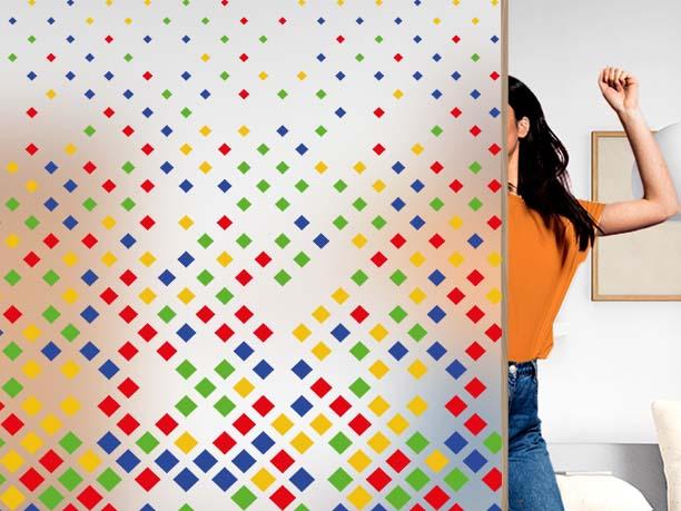 Film décoratif personnalisable motif squares. Luminis Films