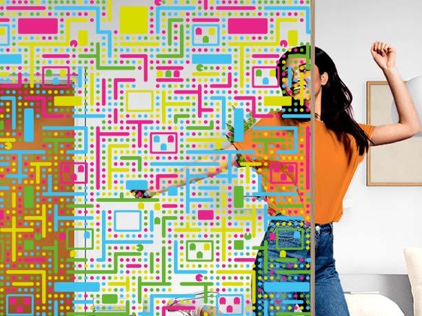 Film décoratif personnalisable motif videogame. Luminis Films