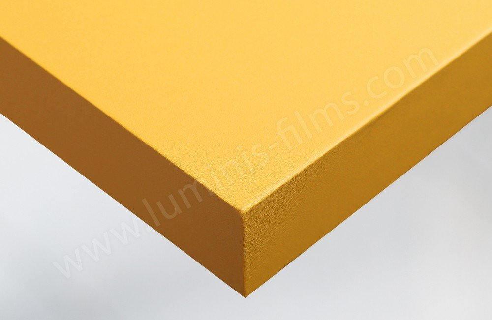 Adhésif pour meuble jaune bouton d'or mat. Luminis-Films