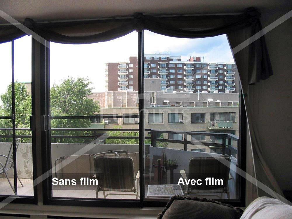 Film miroir sans tain film effet miroir luminis films for Film fenetre anti vis a vis