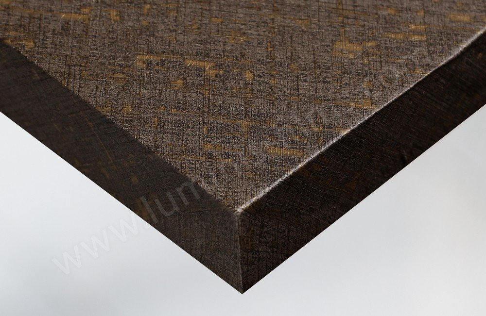 Adhésif imitation tissus vintage marron et doré. Luminis-Films