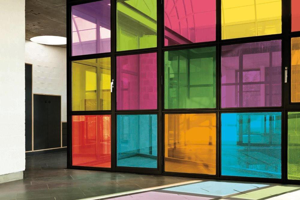 ce film discretion vert teinte vos vitrages luminis films. Black Bedroom Furniture Sets. Home Design Ideas