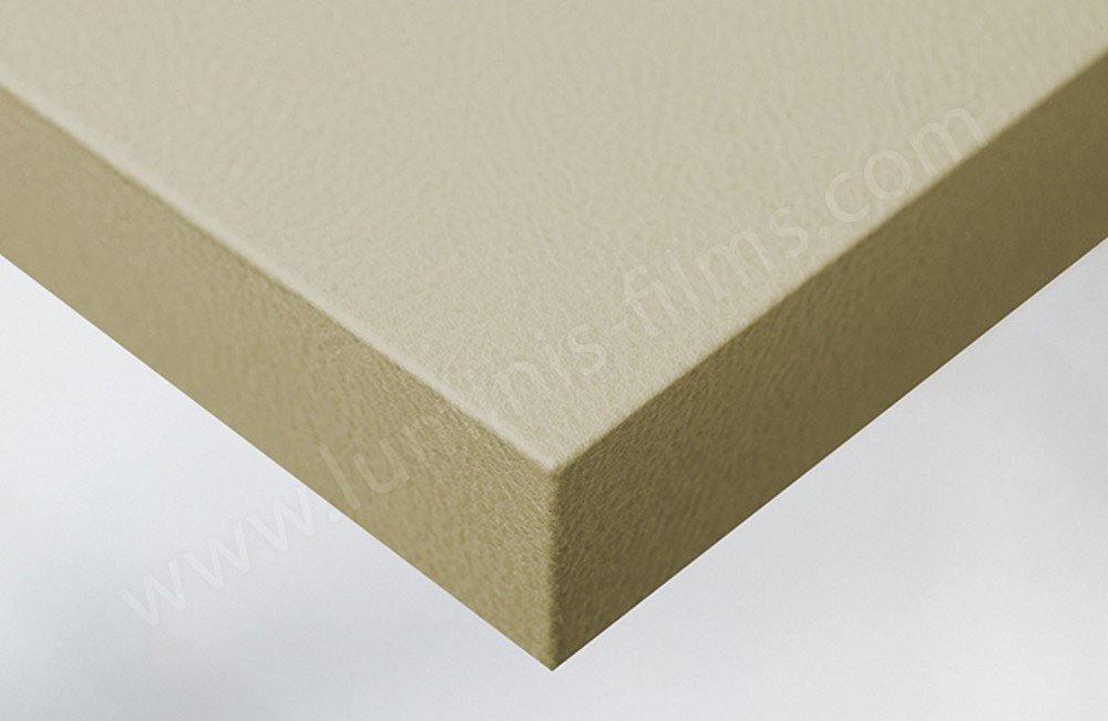 Adhésif imitation cuir mat beige. Luminis-Films