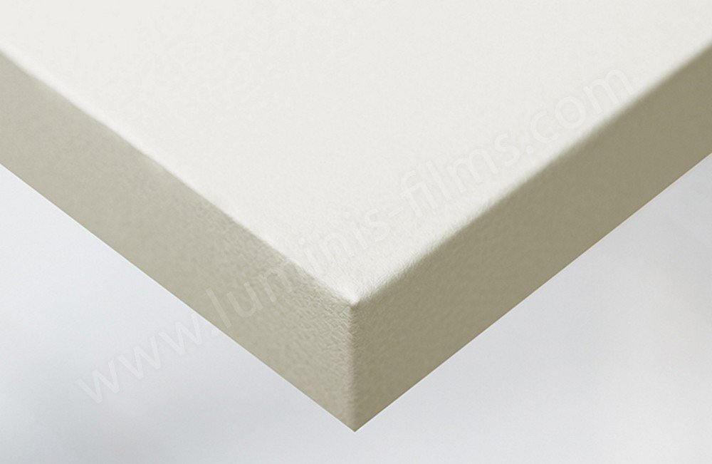 Adhésif effet cuir blanc cassé mat. Luminis-Films