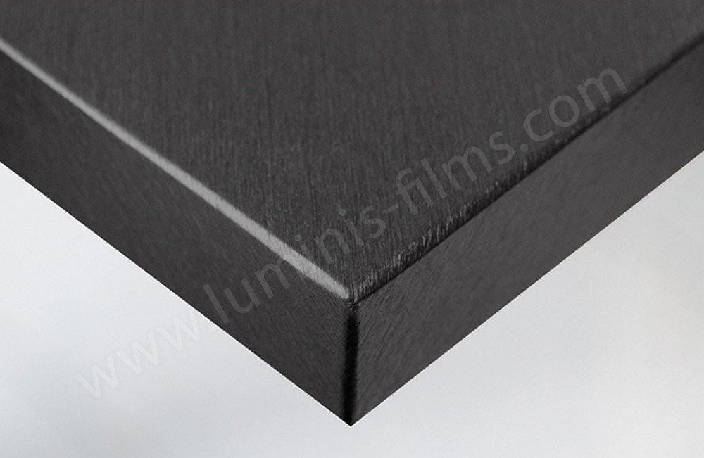 Revêtement décoratif acier brossé. Luminis-Films