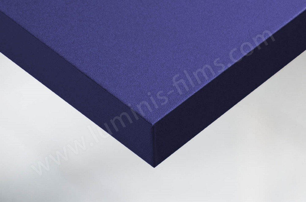 Revêtement décoratif bleu marine mat. Luminis-Films
