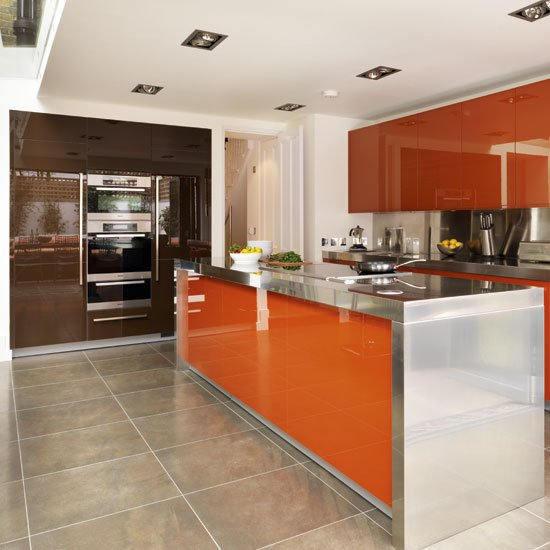 Revêtement décoratif orange brillant 3D. Variance Auto