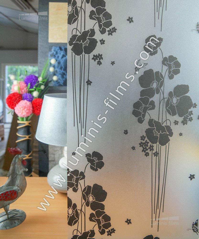 film lectrostatique d poli d coratif printanier luminis. Black Bedroom Furniture Sets. Home Design Ideas