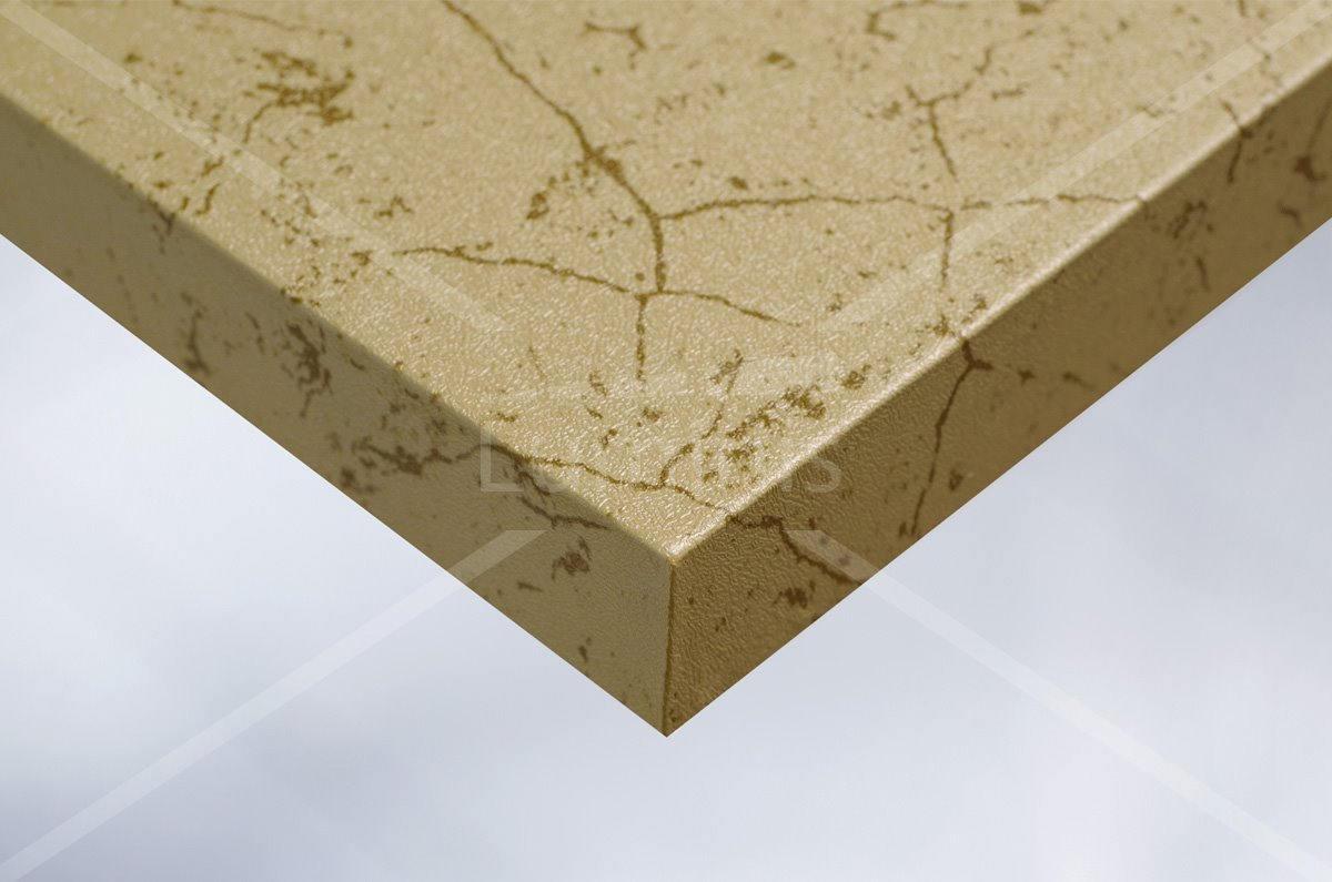 Adhésif pour meuble métal doré marbré. Luminis-Films