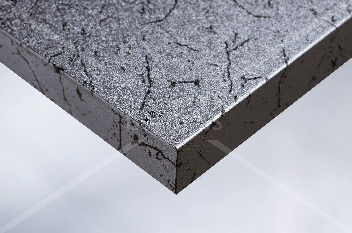 Papier décoratif métal argenté marbré. Luminis-Films