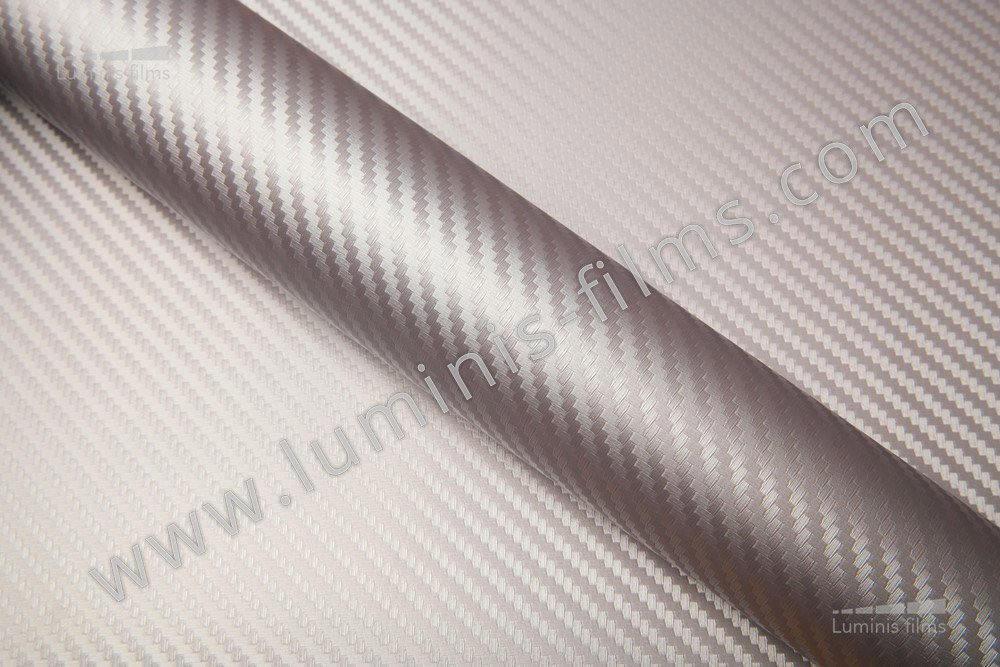 Revêtement décoratif carbone argent 2D. Luminis-Films
