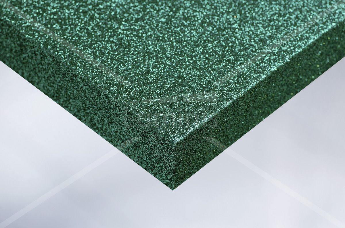 Revêtement mural pailleté vert. Luminis-Films