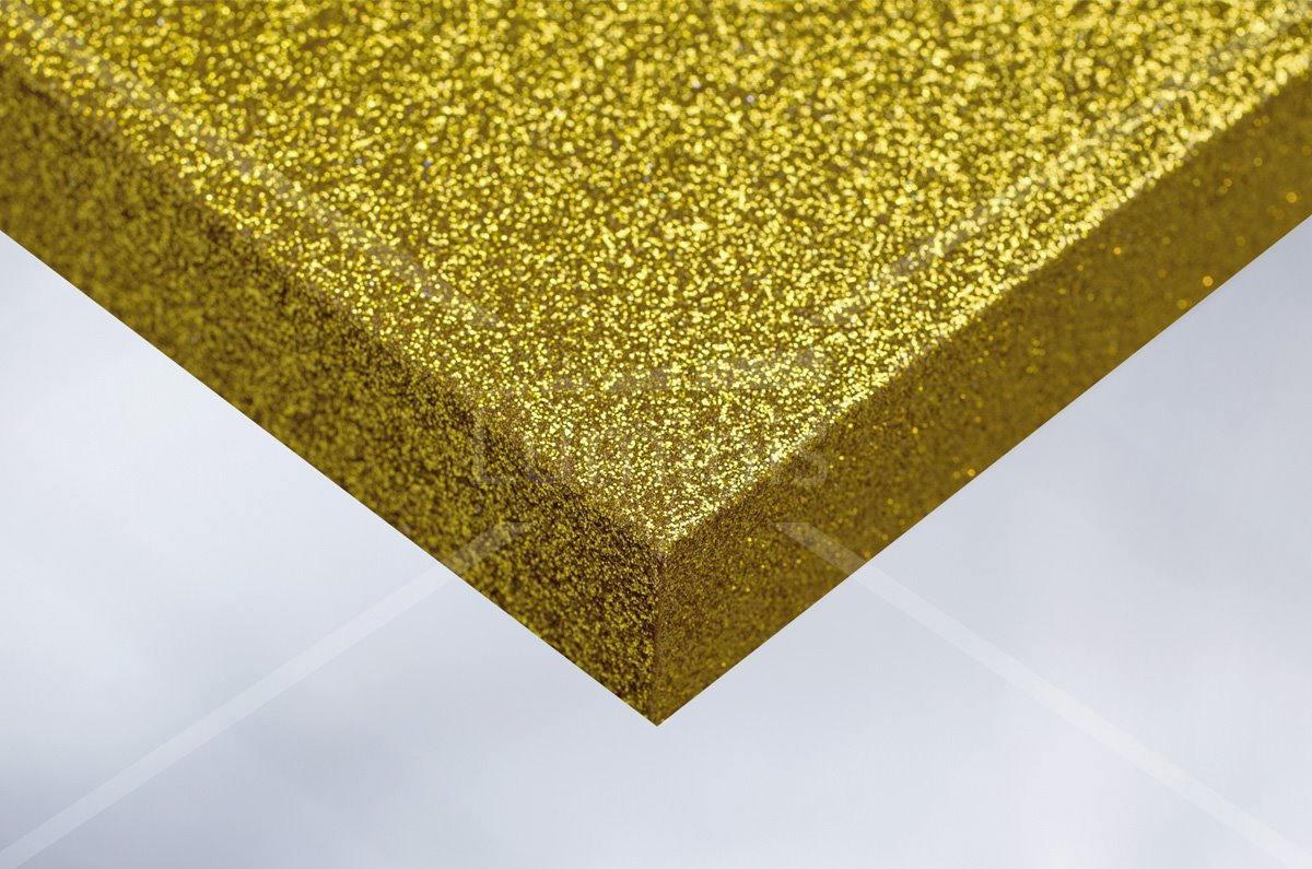 Rouleau adhésif pailleté jaune. Luminis-Films