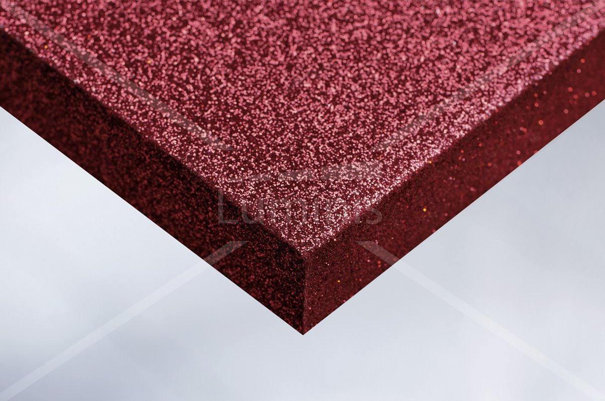 Revêtement mural pailleté rouge. Luminis-Films