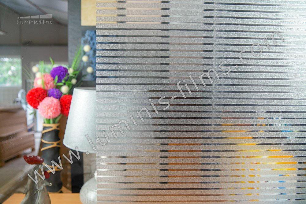 Film repositionnable à bandes dépolies 1,5 cm. Luminis-Films