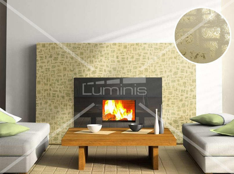 Adh sif d coratif m tal feuille d 39 or indus 2711 luminis - Film adhesif decoratif pour meuble ...