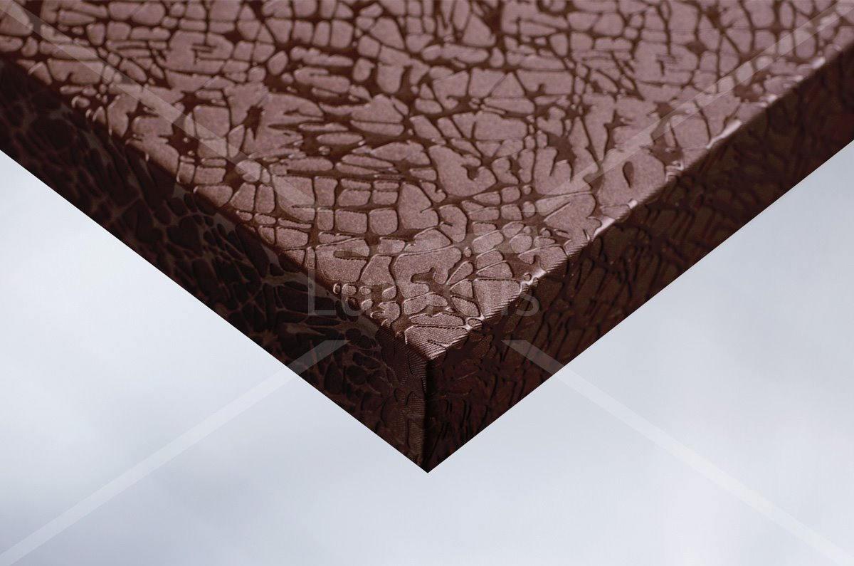 Papier adhésif tissu craquelé cuivre. Luminis-Films