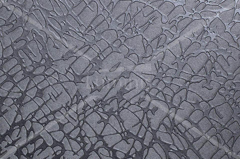 Papier autocollant effet tissu craquelé argenté. Luminis-Films