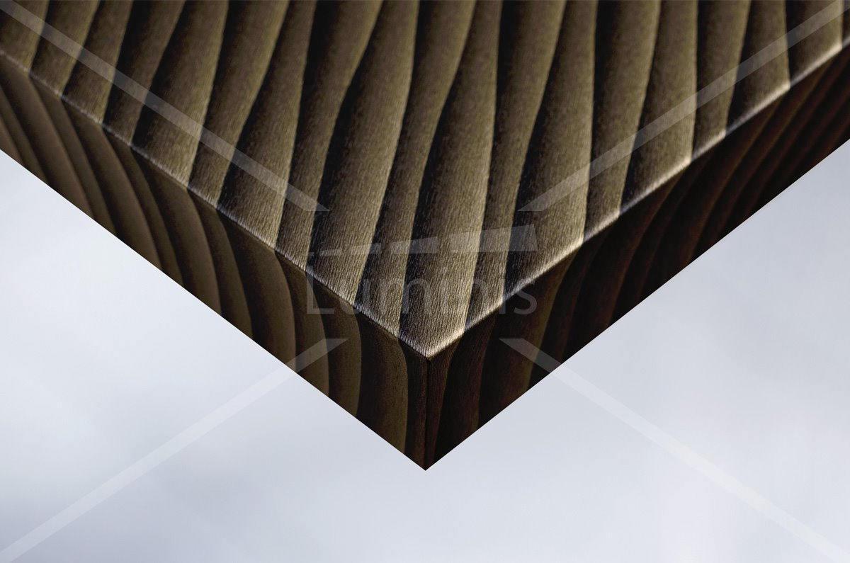 Film tramé noir doré avec reflets - U15. Luminis-Films