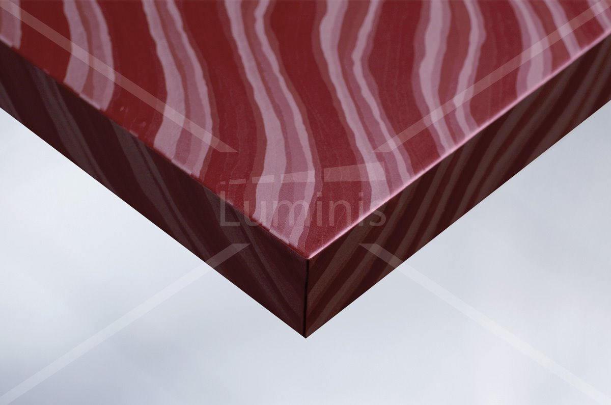 Film rouge à vagues, hologramme - U17. Luminis-Films