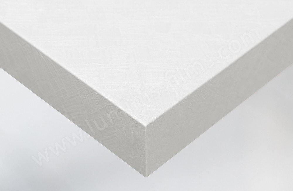 Vinyle adhésif béton ciré blanc décoratif. Luminis-Films
