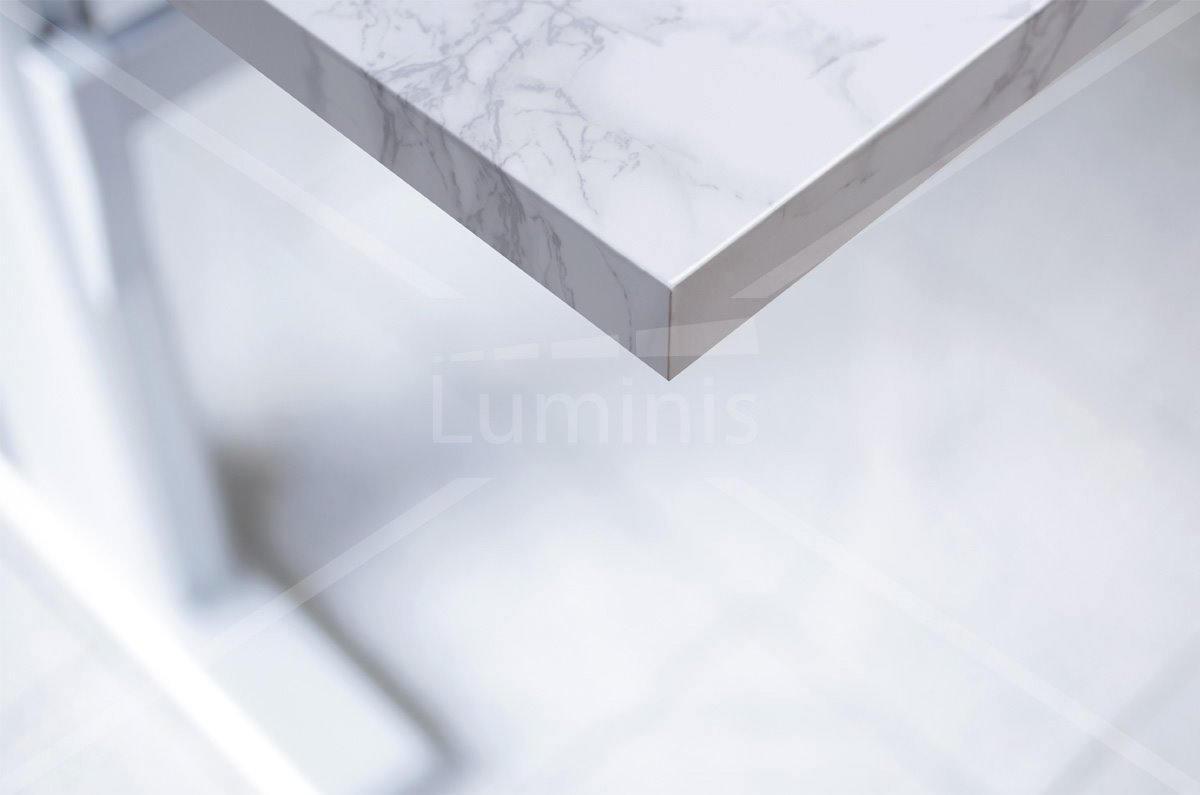 Plan De Travail Marbre Pas Cher adhésif plan de travail marbre blanc brillant - marbre-2800