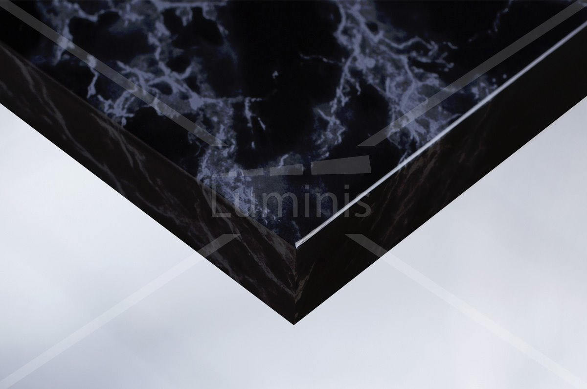 Revêtement adhésif marbre noir brillant. Luminis-Films