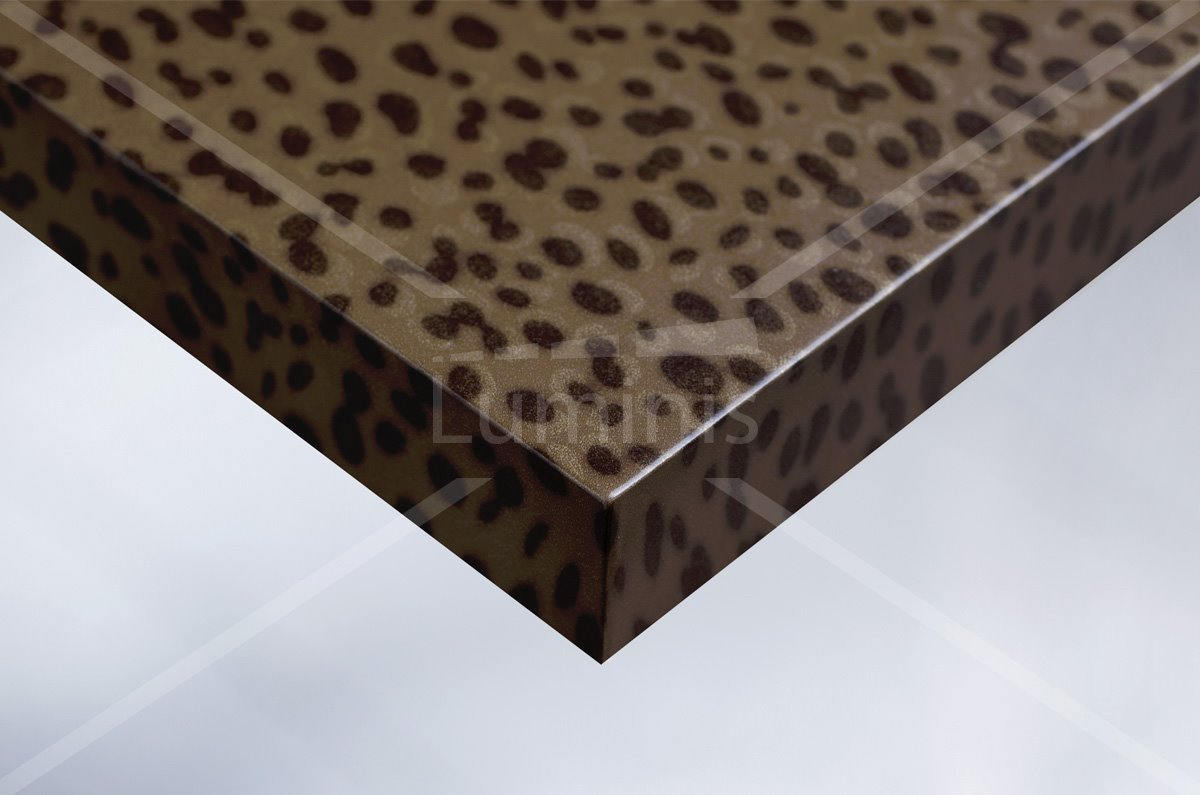 Adhésif hologramme effet léopard. Luminis-Films