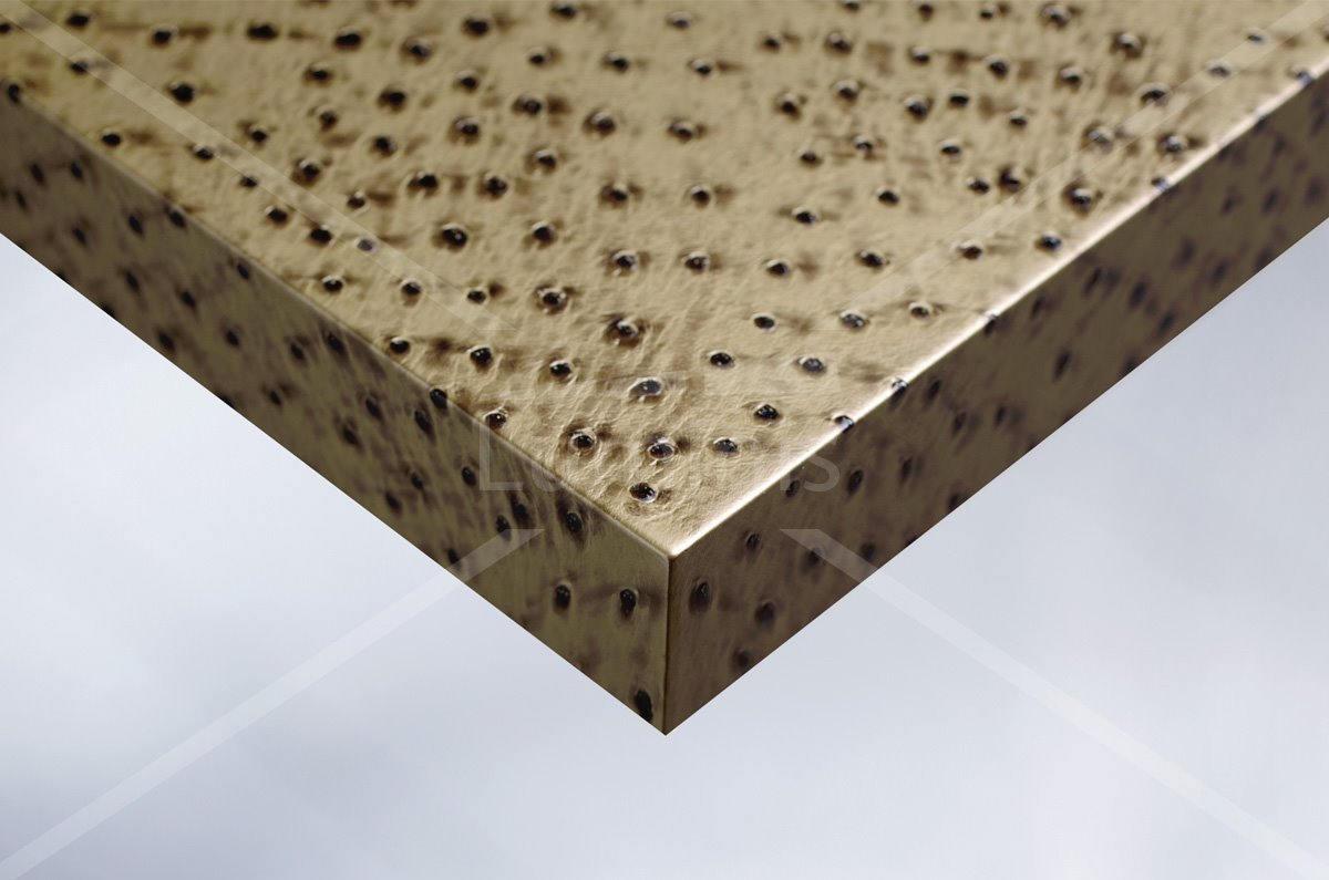 Film effet cuir doré poinçonné - V5. Luminis-Films