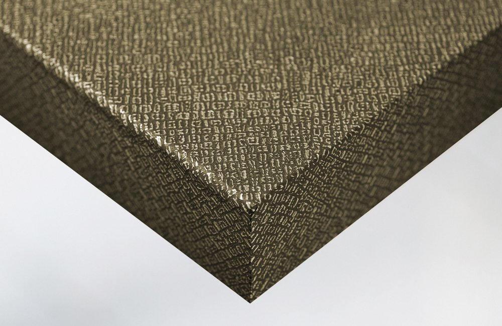 Revêtement décoratif effet cuir noir et or. Luminis-Films