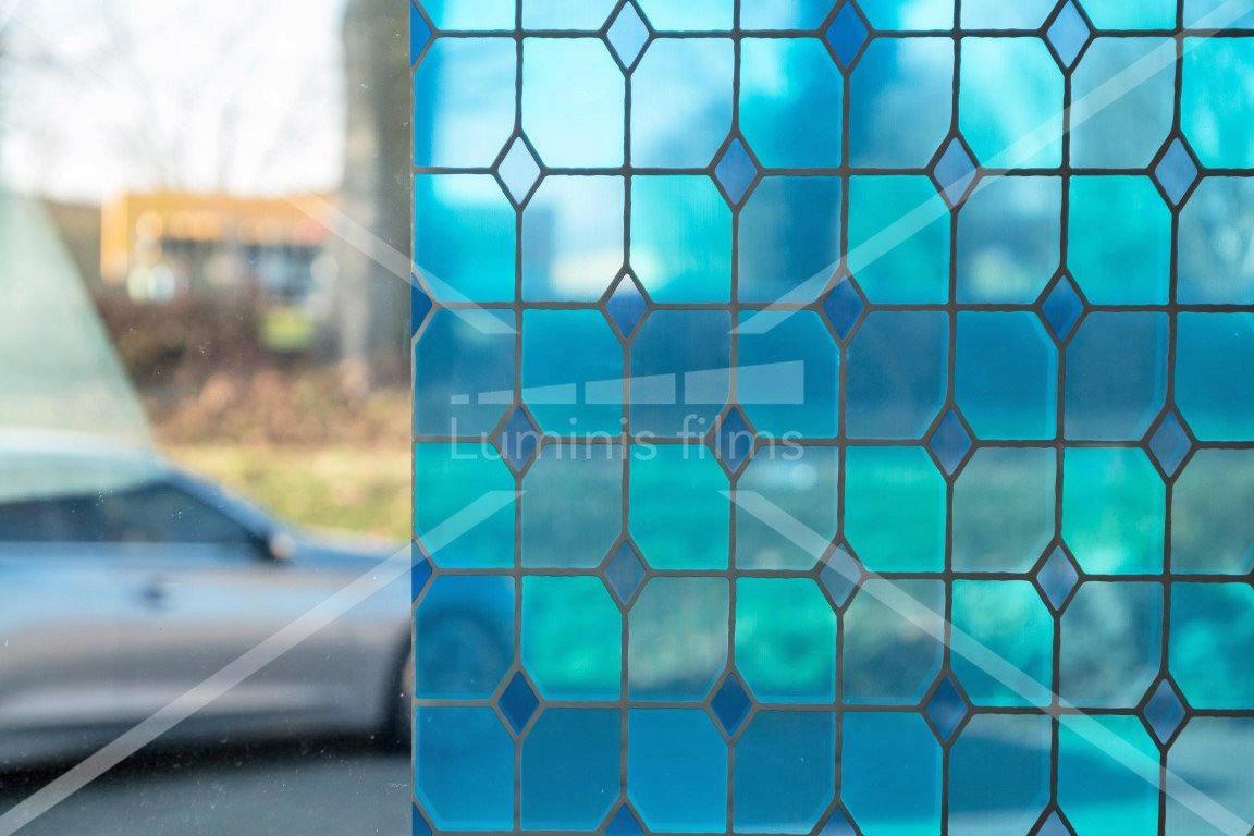 Film vitrail bleu - VTB 420. Luminis-Films