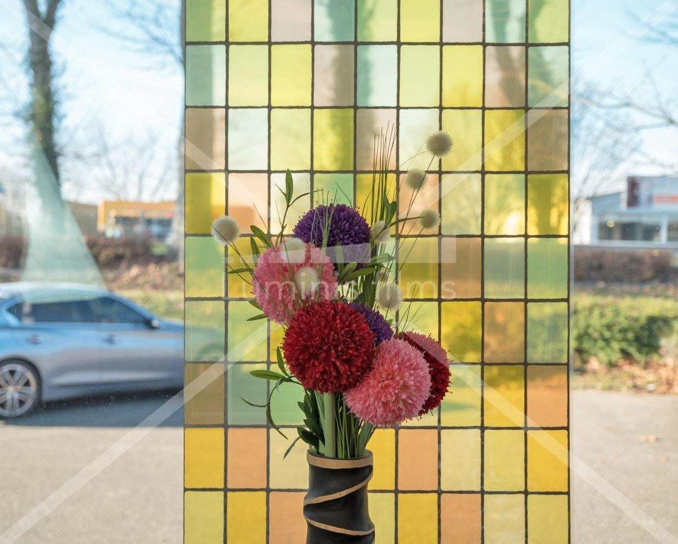 Film vitrail jaune - VTJ 310. Luminis-Films