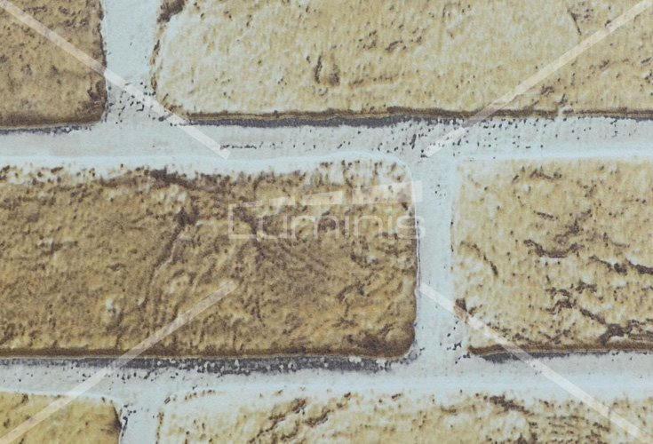 Papier mural mur de briques beiges. Luminis-Films
