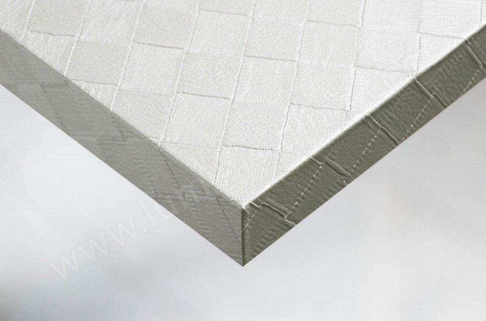 Vinyle décoratif cuir blanc en carré. Luminis-Films