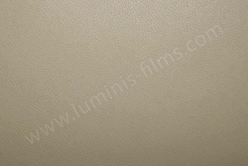 Vinyl adhésif effet cuir beige. Luminis-Films
