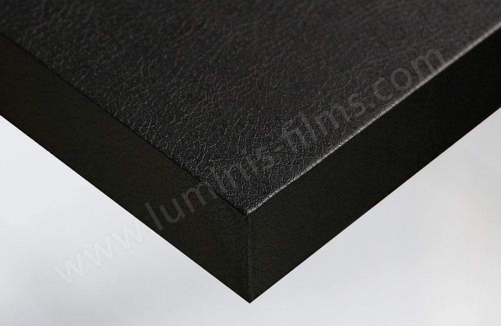 Revêtement adhésif cuir noir. Luminis-Films