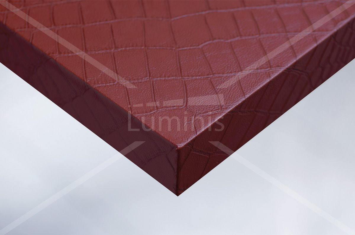 Revêtement décoratif cuir rouge. Luminis-Films