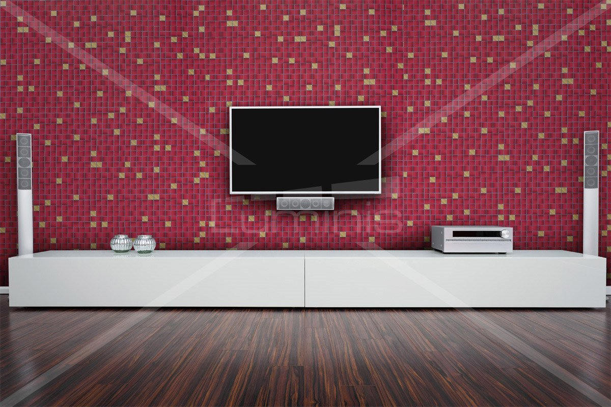 film carrelage petits carreaux rouges z6 luminis films. Black Bedroom Furniture Sets. Home Design Ideas