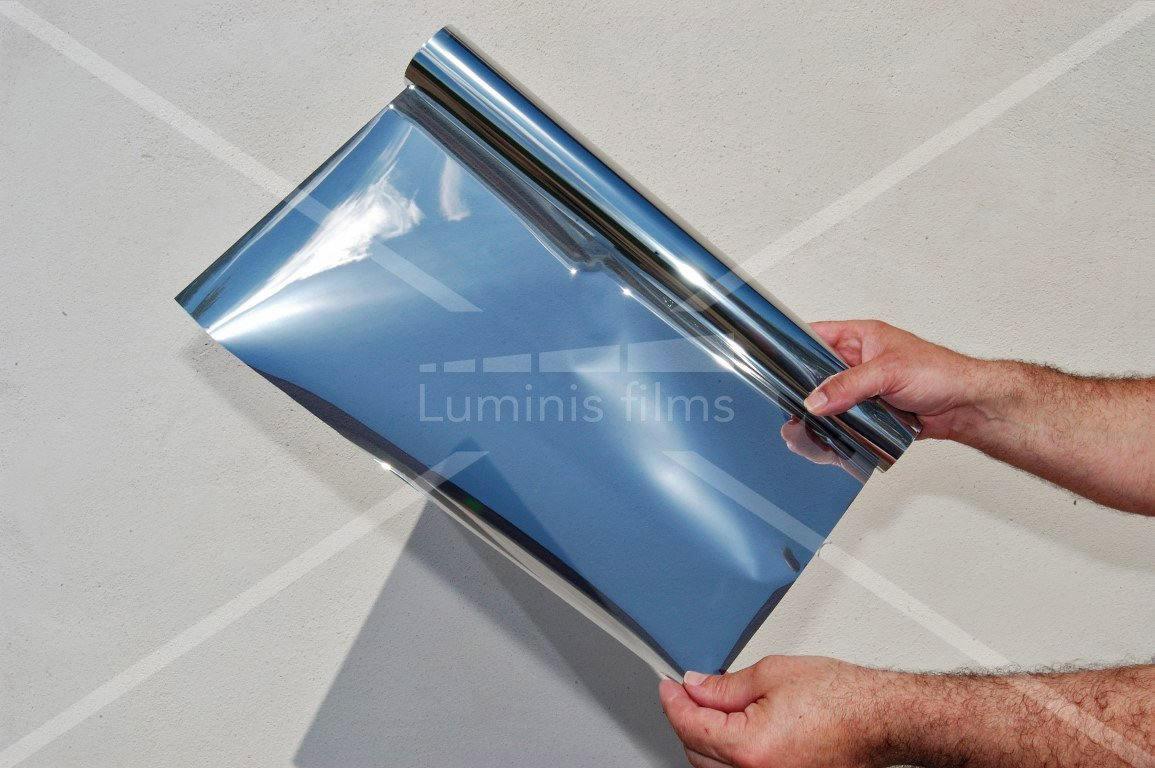 10 €//m² 100 x 91 cm Miroir film argent Teinte Film De Protection Solaire Film De Fenêtre