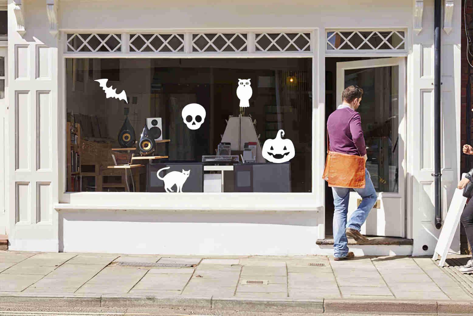 Décoration halloween pour fenêtre. Luminis-Films