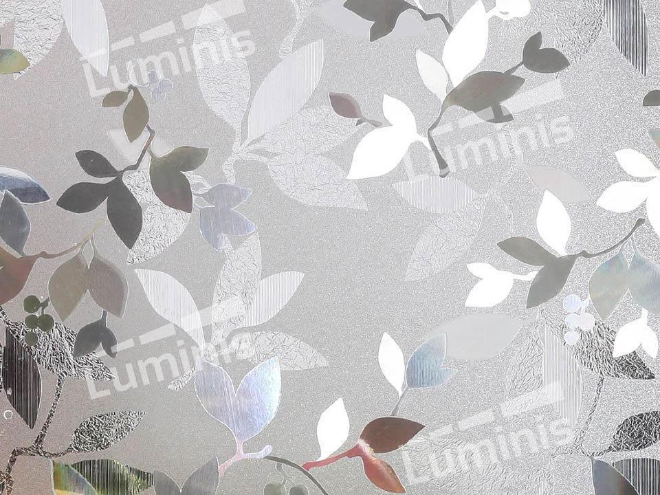 Film électrostatique dépoli à motif floral. Luminis-Films